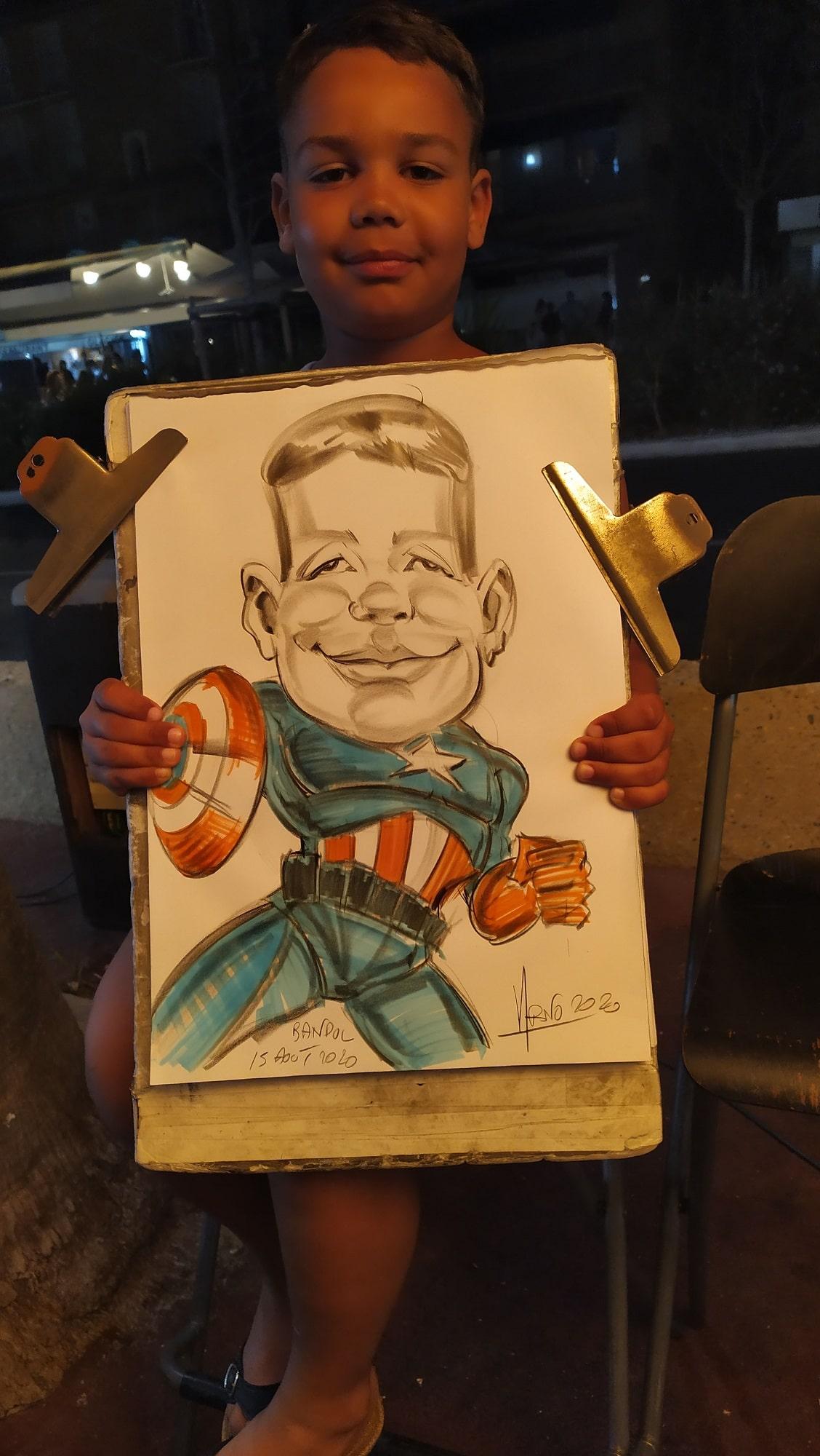 Caricature du véritable Captain América à Bandol