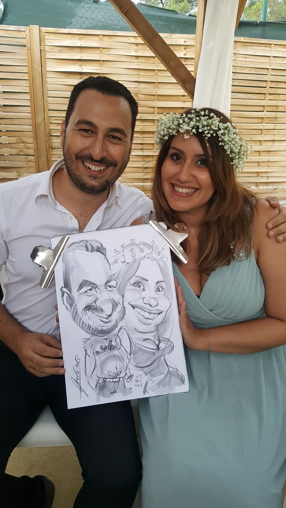 Portrait des témoins de mariage à Ollioules