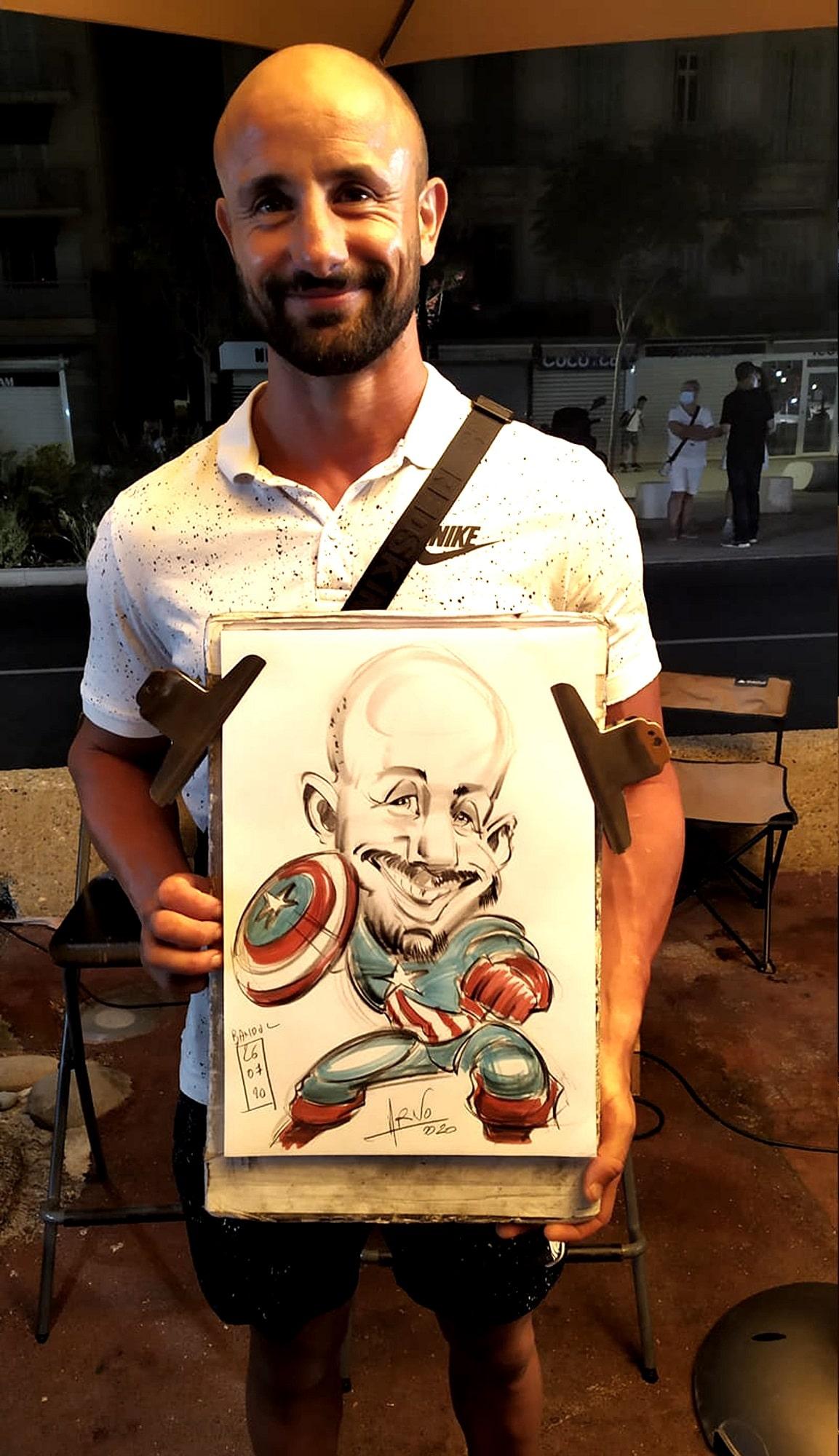 Portrait de Captain America à Bandol