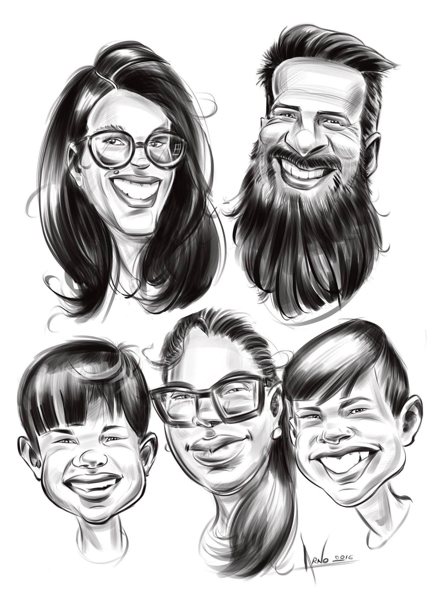 Portrait de famille sur iPad