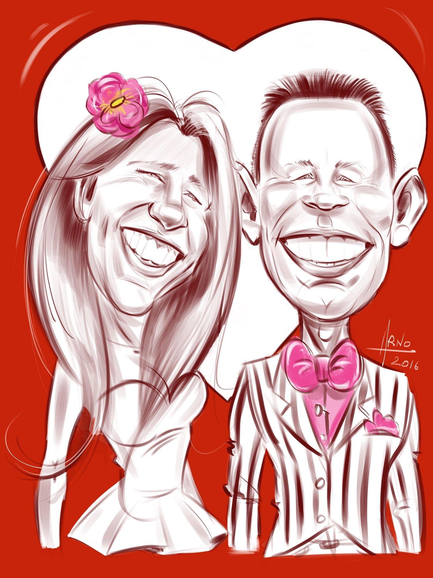 Portrait de mariés iPad