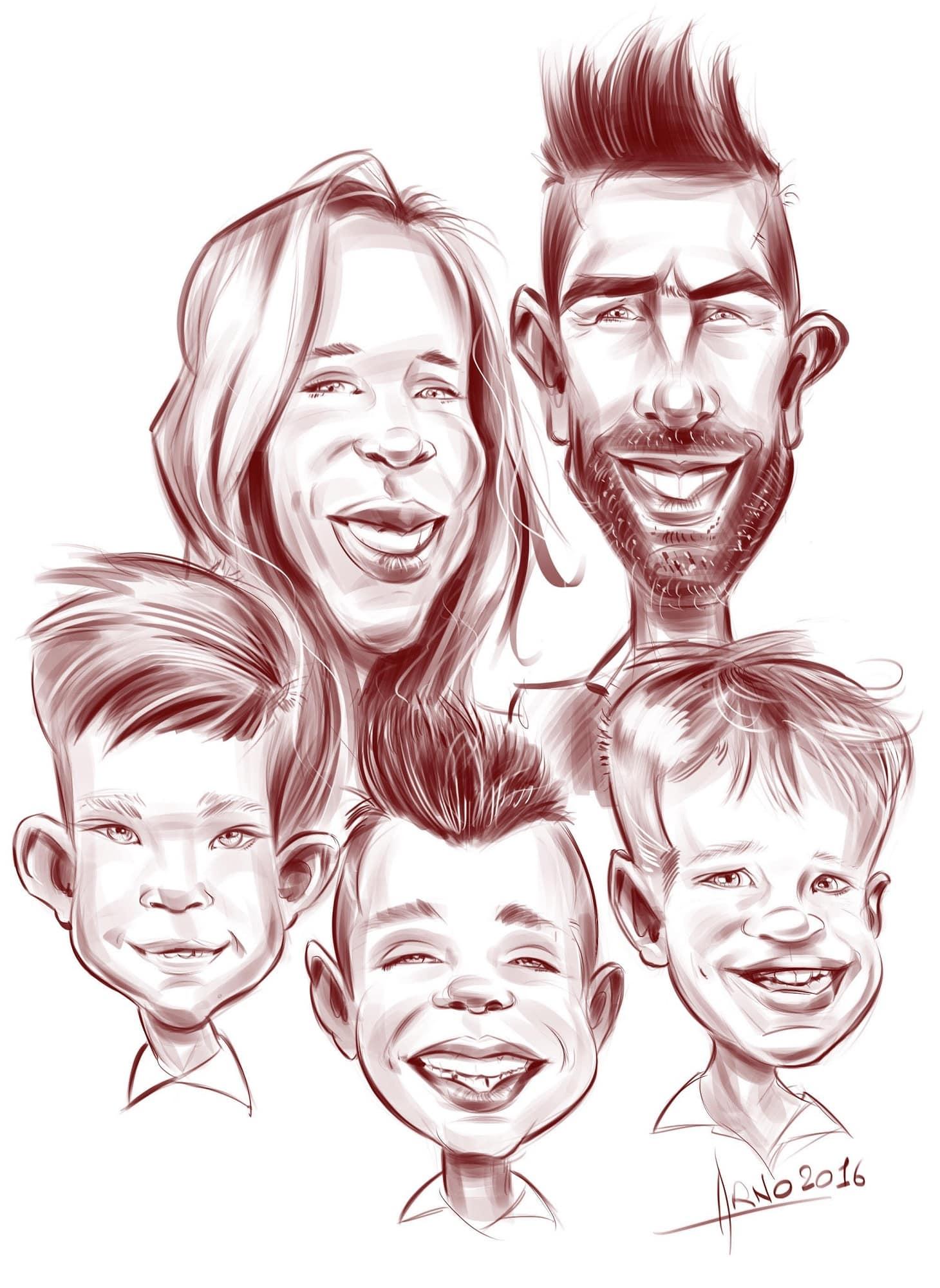 Portrait famille sur iPad