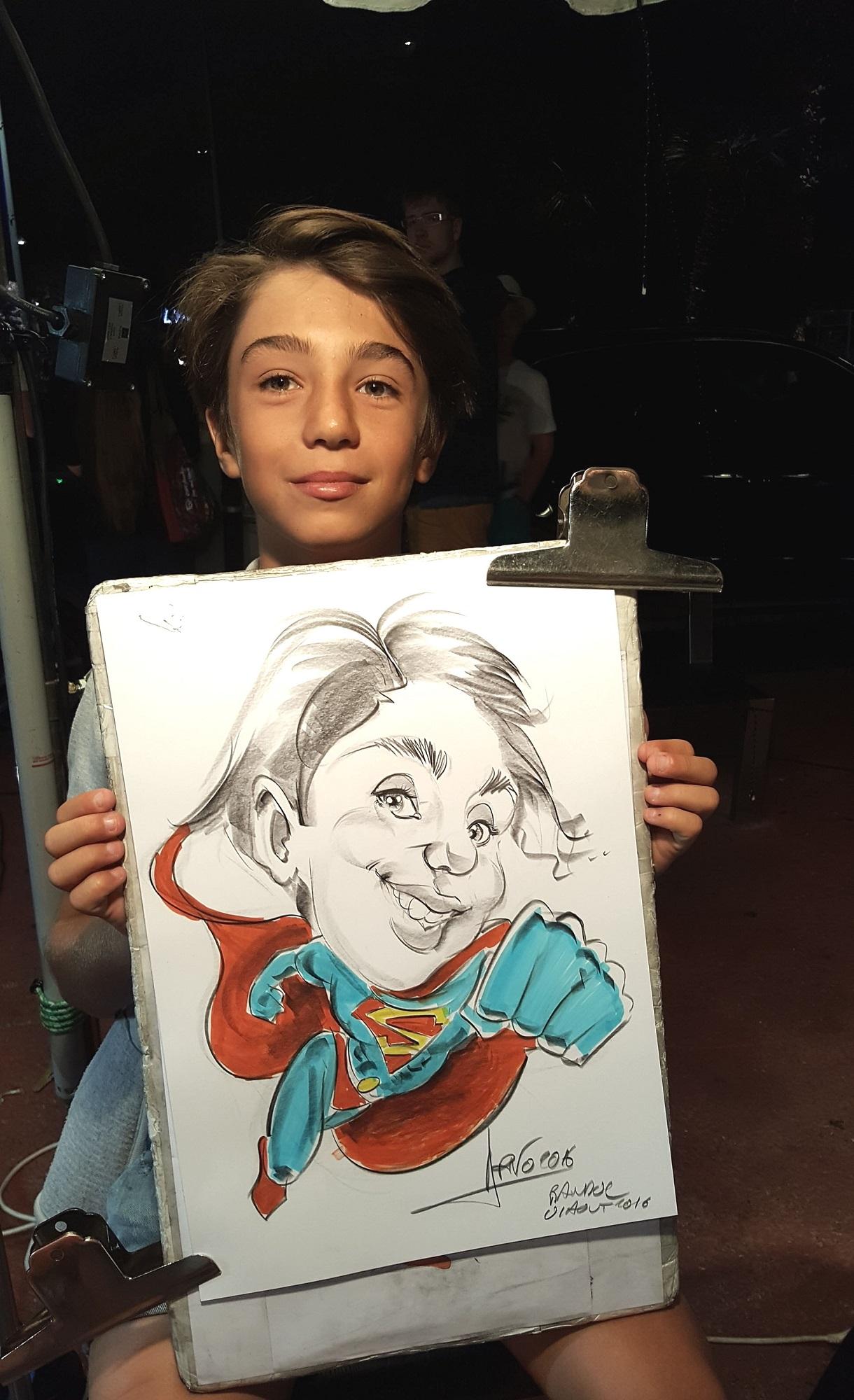 Caricature de Superman à Bandol